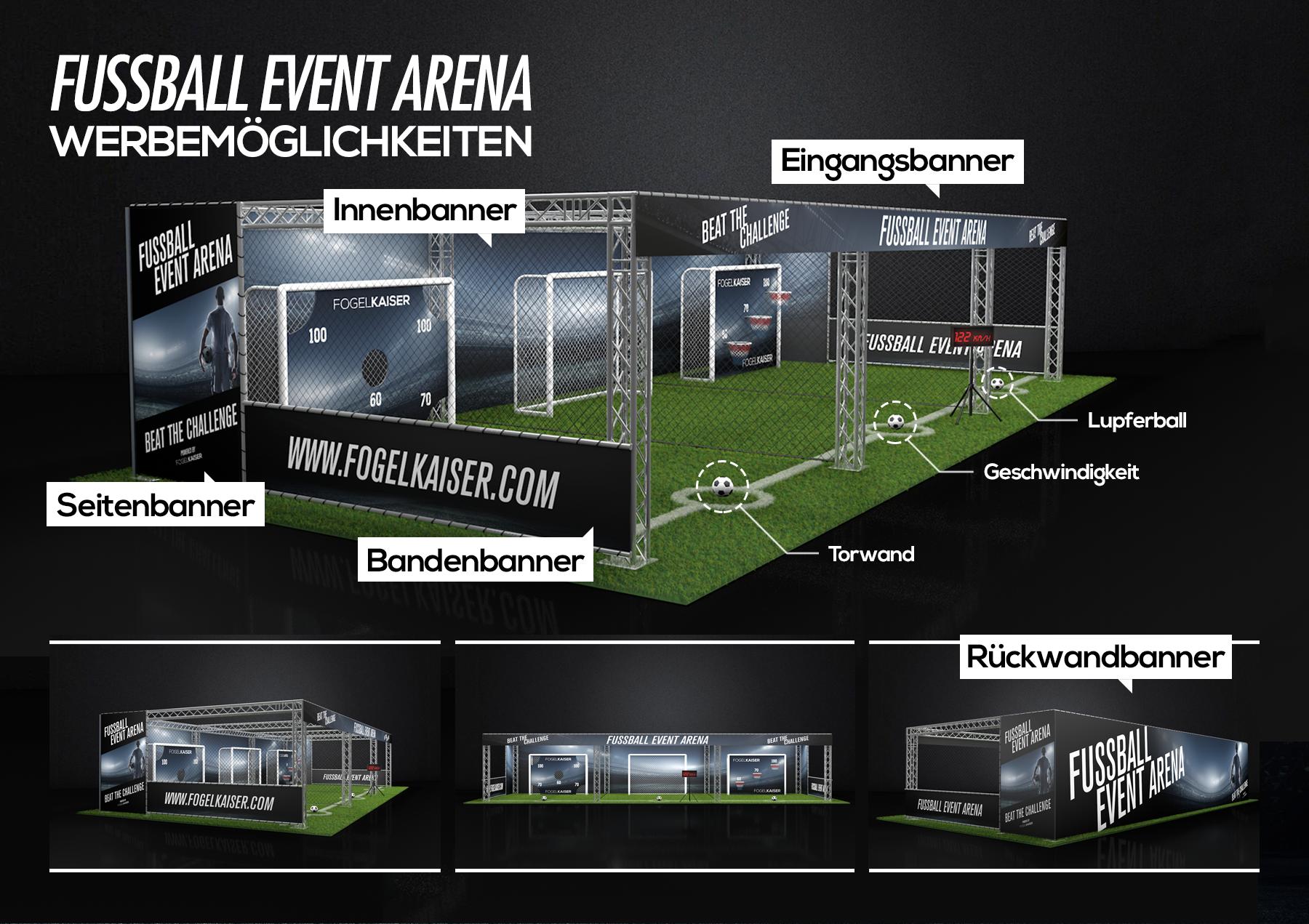 Branding der fussball arena modul